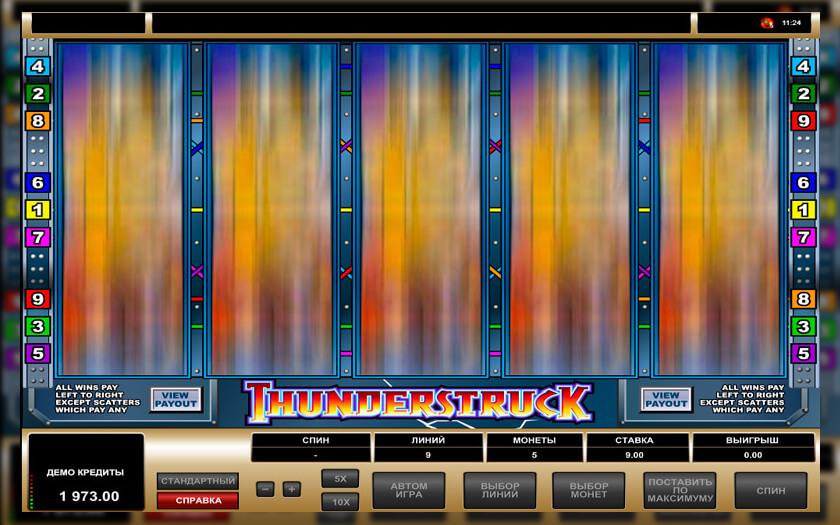 Играть без регистрации онлайн автоматы thunderstruck